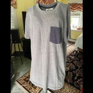 A&F Loose Fitting Casual T with Decorative Pocket
